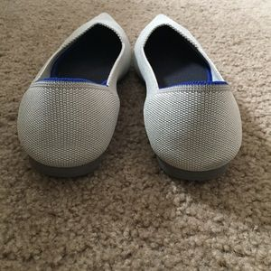 Rothy's Shoes - Rothys Point Flats Flax Birdseye 10.5